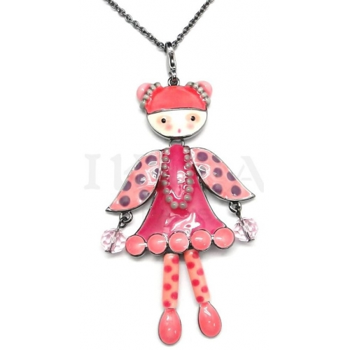 Collier DOLL rose